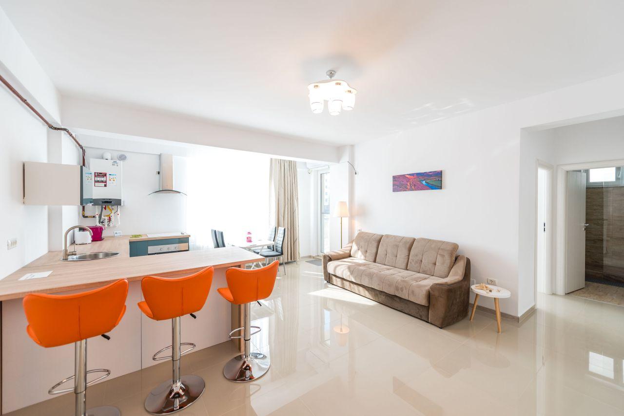 Apartament premium cu terasa si vedere la mare in complex rezidential 003