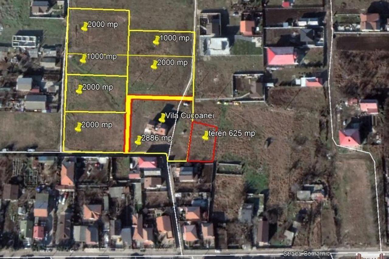 Loturi de teren intravilan cu deschidere 17m și toate utilitățile disponibile