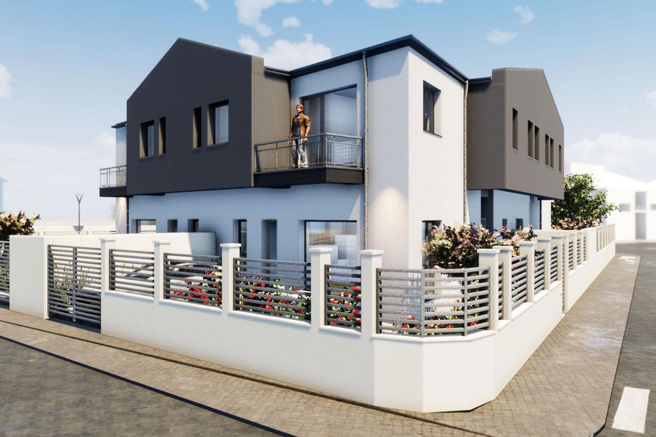 Case deosebite în cartier nou pe malul lacului în Ovidiu