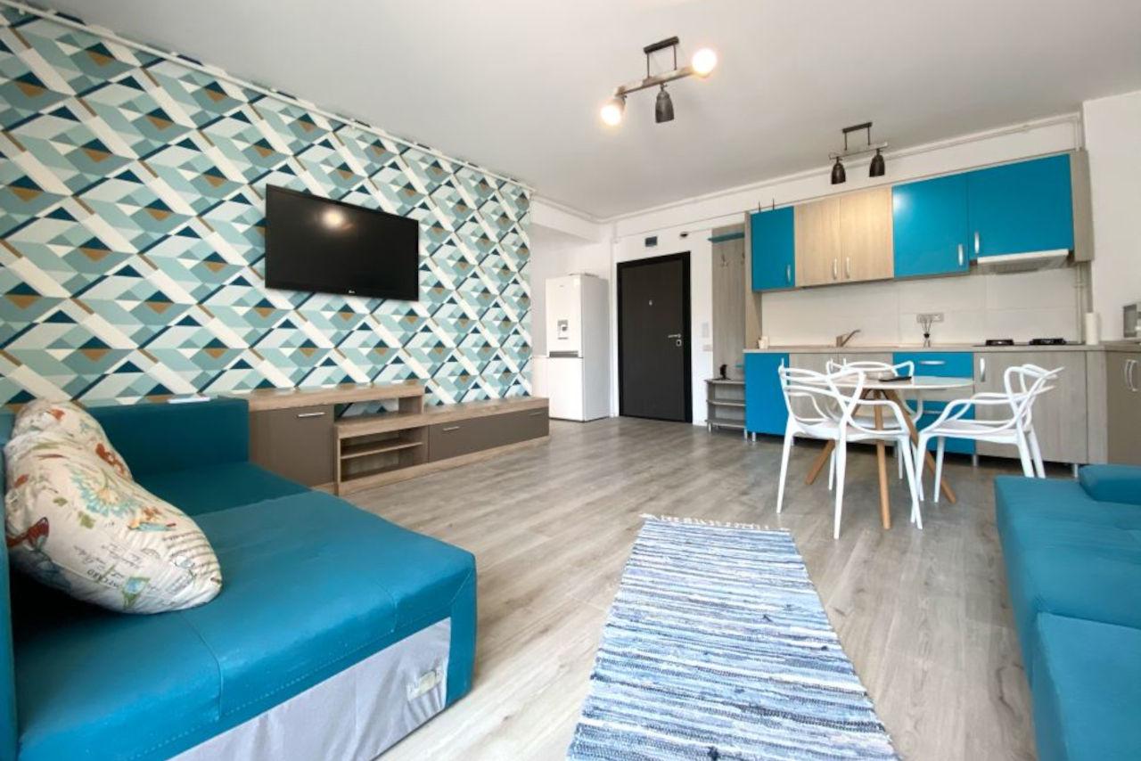 Apartament cu 2 camere și vedere permanentă către mare, lângă Alezzi Beach Resort